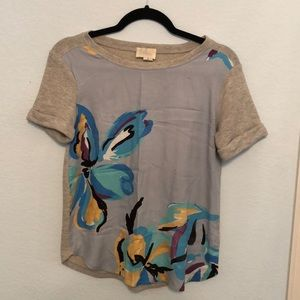 Anthropologie Watercolor T shirt